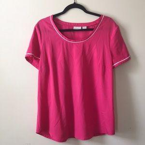 Tops - Pink Liz Claiborne Top Size Large
